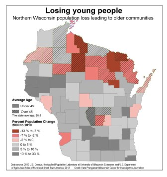 While other parts of the state are growing in population and business, northern Wisconsin is struggling. Between 2000 and 2014, Iron County has lost nearly 14 percent of its population, which local economic development leaders say hurts economic growth in the area.