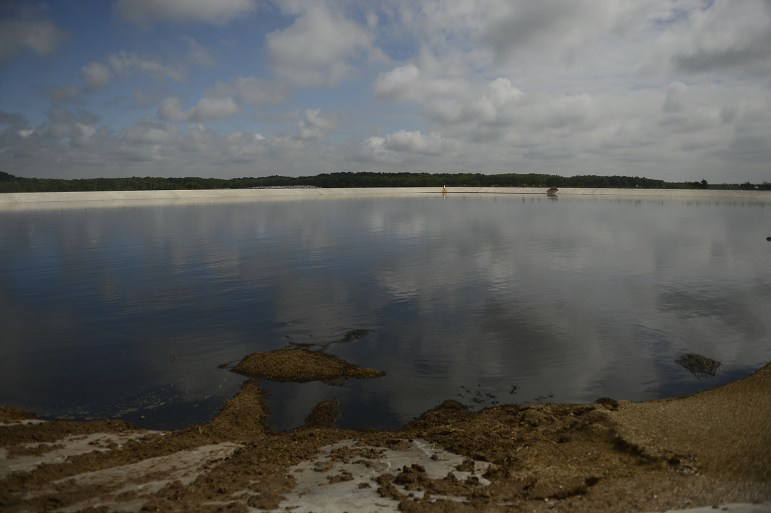 Waste is stored in a manure lagoon at the Kinnard Farms Inc. expansion site in the town of Lincoln in Kewaunee County in 2015. Kinnard Farms has become a target of environmental groups who are concerned that such concentrated animal feeding operations are polluting groundwater.