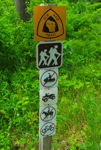 Ice Age Trail Sign