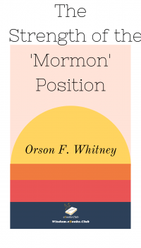 The Strength of the 'Mormon' Position