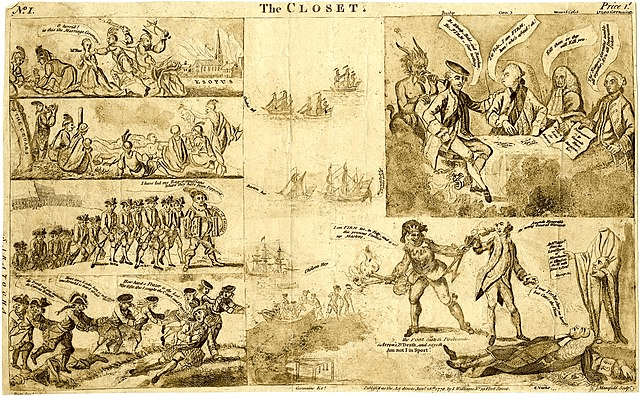 British offensive| American Revolution