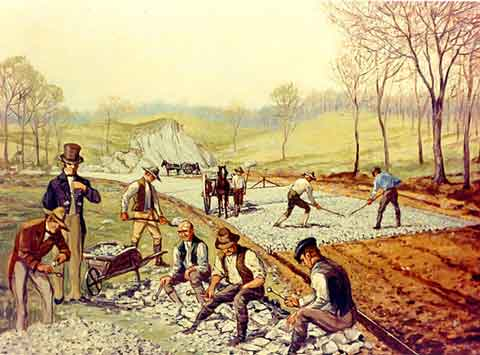 digital history of America 1815-1830 | infrastructure