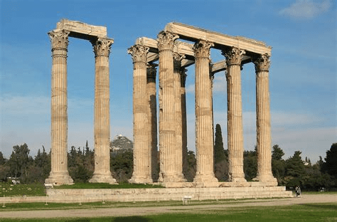 "architecture"" Temple of Zeus"