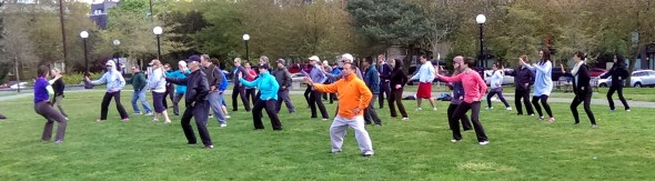 2014 World Tai Chi Qigong Day - Silk Reeling Practice