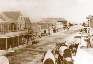 Indianola, Texas street scene
