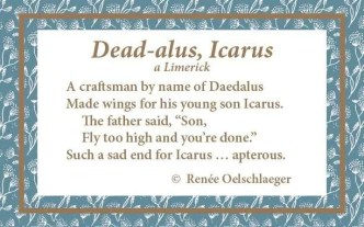 Dead-alus-Icarus, mythology, flying, limerick, light verse, poetry, poem