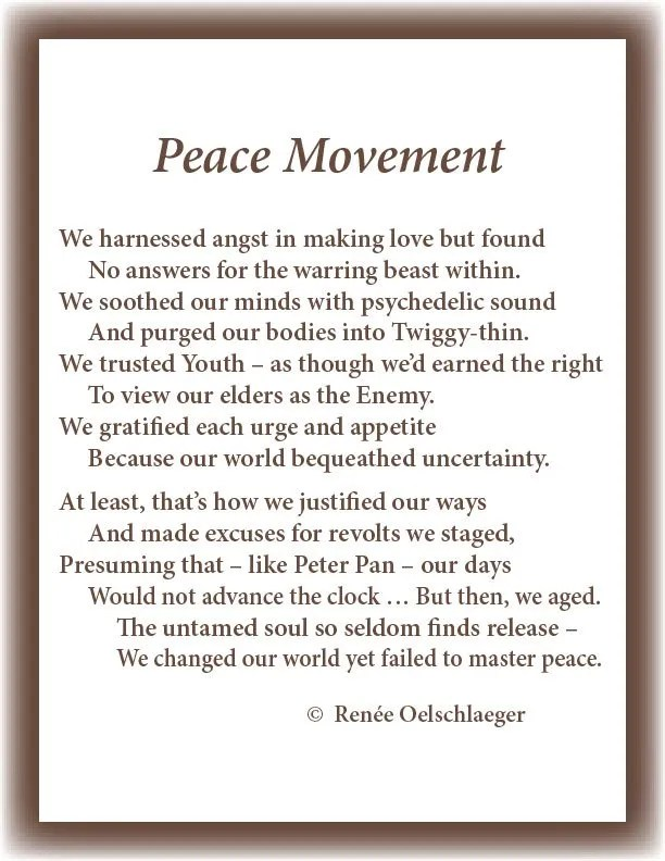 Peace-Movement, peace, 60s, make love, not war, Twiggy, sonnet, poetry, poem, youth