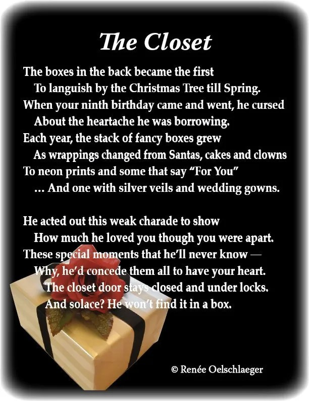 The-Closet, Christmas, gifts, presents, despair, broken relationships, sonnet, poetry, poem