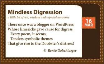 Doobster-Limerick, Mindless Digression, mindful digressions, limerick, WordPress, poetry, light verse, poem