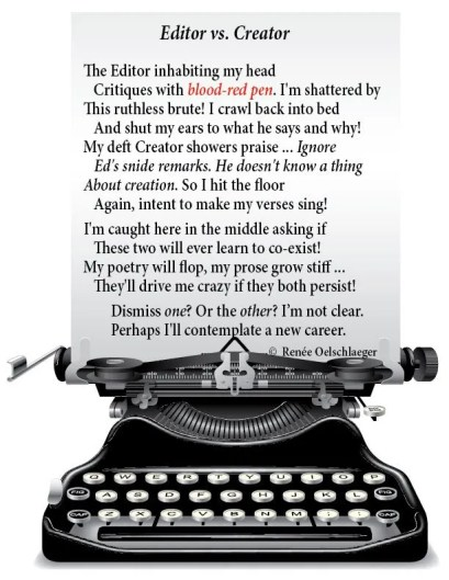Editor-vs-Creator, 1000 words a day, writing, writer's conflict, sonnet, poetry, poem