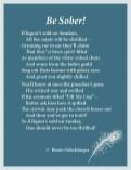 Be-Sober, Sunday liquor laws, liquor, hysteria, teetotal, preachers, light verse, poetry, poem
