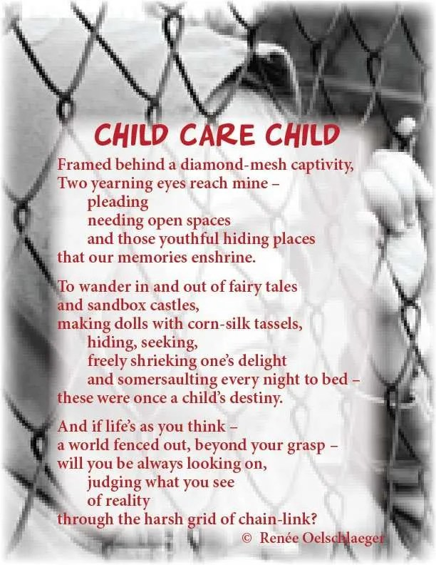 Child-Care-Child, childcare, day care, children, abandonment, poetry, free verse, poem