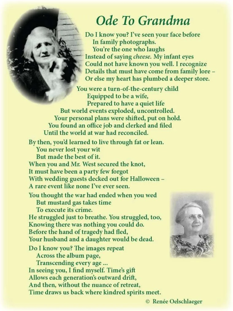 Ode-To-Grandma, love poem, light verse, poetry, poem