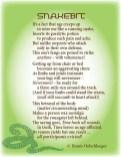 Snakebit, growing old, aging, light verse, poetry, poem
