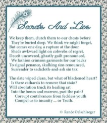 Secrets-And-Lies, secrets, black heart, regrets, sackcloth and ashes, guilt, truth, insanity, sonnet, poetry, poem