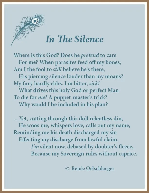 In-The-Silence, God, God's voice, sonnet, poetry, poem