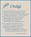A Prodigal, sonnet, sin, poetry, poem