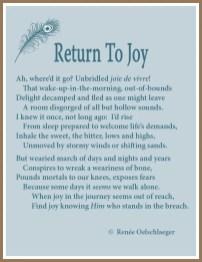 Return To Joy, weariness, sonnet, poetry, poem,