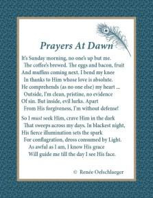 Prayers At Dawn, morning, sonnet, poetry, poem