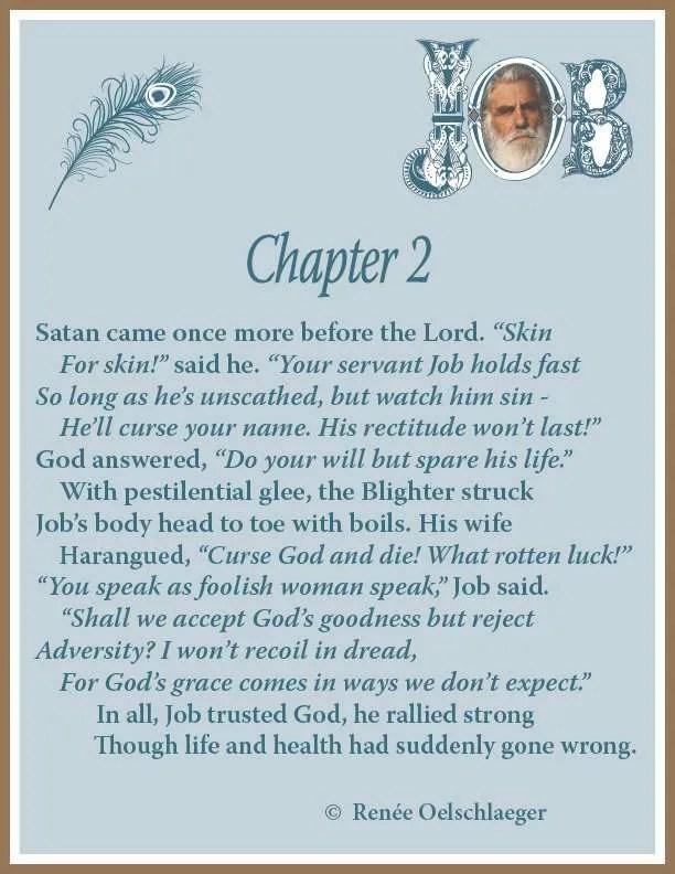 Job, Chapter 2, poetry, sonnet, poem, Satan, God