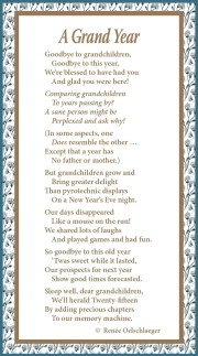 A Grand Year, poem, poetry, whimsy, grandchildren, new year