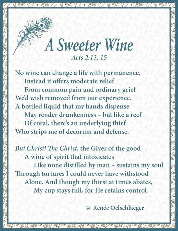 A Sweeter Wine, sonnet, poetry, poem