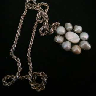 vintage argento perle