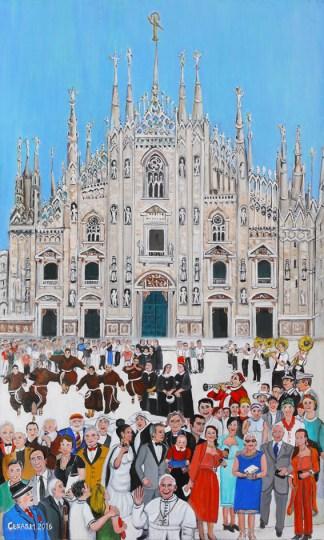 quadro duomo milano papa francesco
