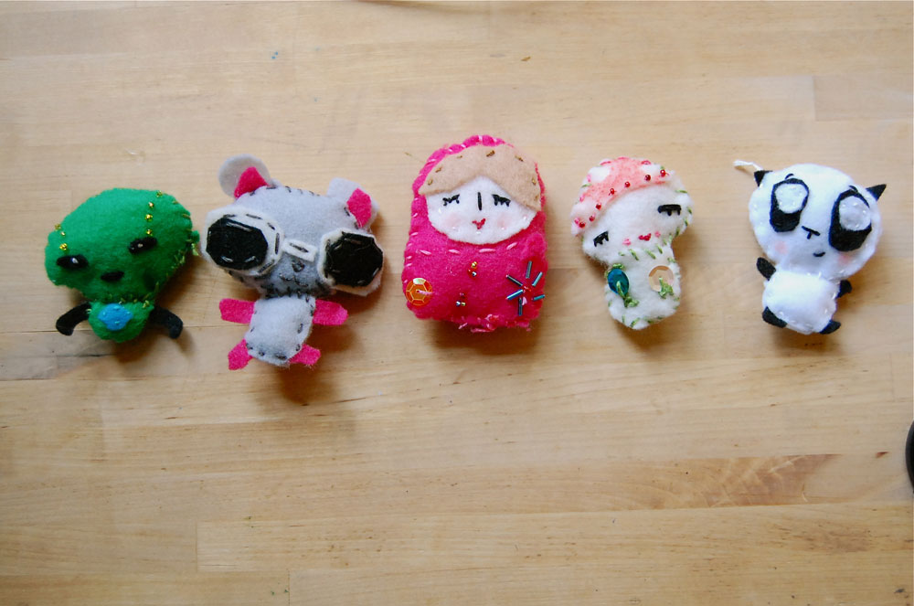 Tiny Felt Friends