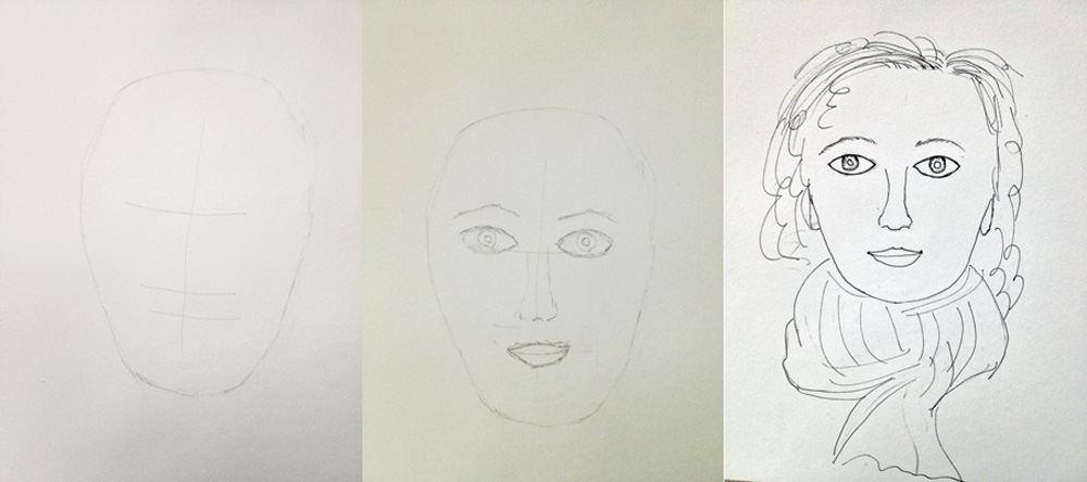 sketching faces
