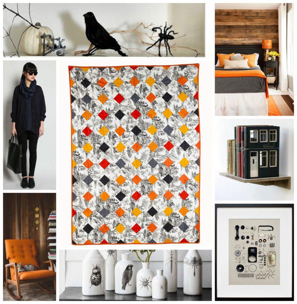 Day of The Dead quilt Collage