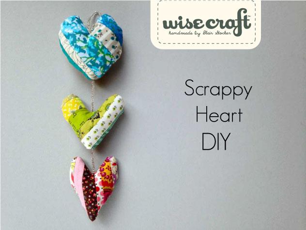 Fabric Scrap DIY Heart Valentines