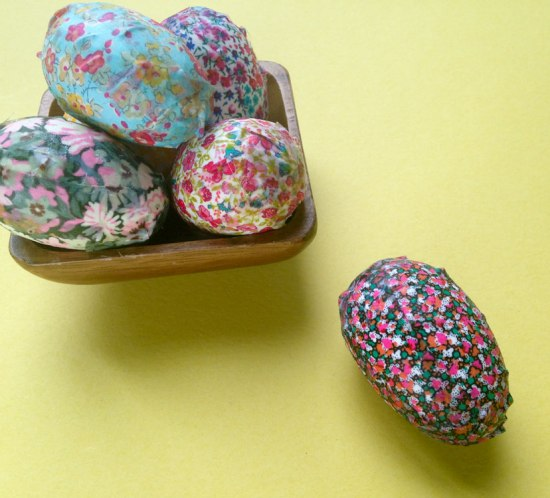 Liberty Easter eggs by Wise Craft Handmade