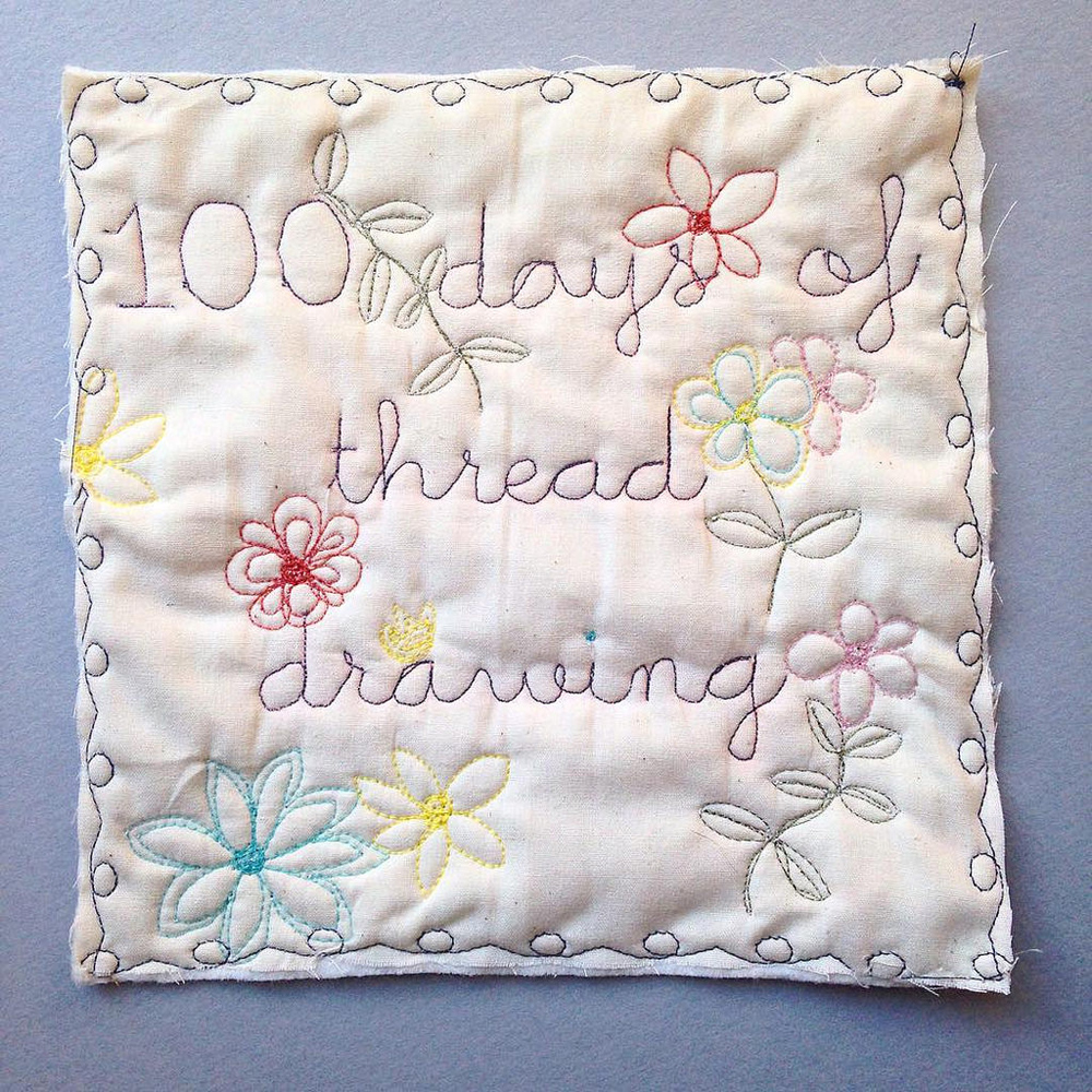 100daysofthreaddrawing by Wise Craft Handmade