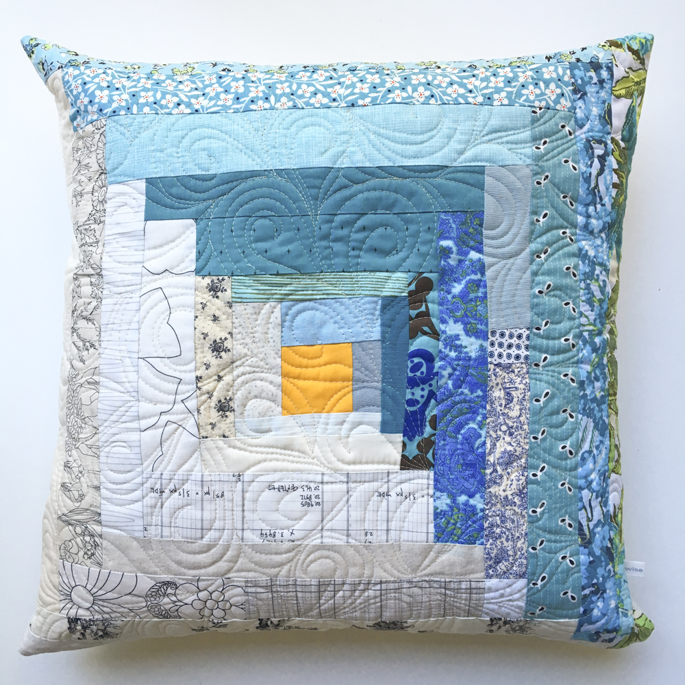patchwork throw pillow