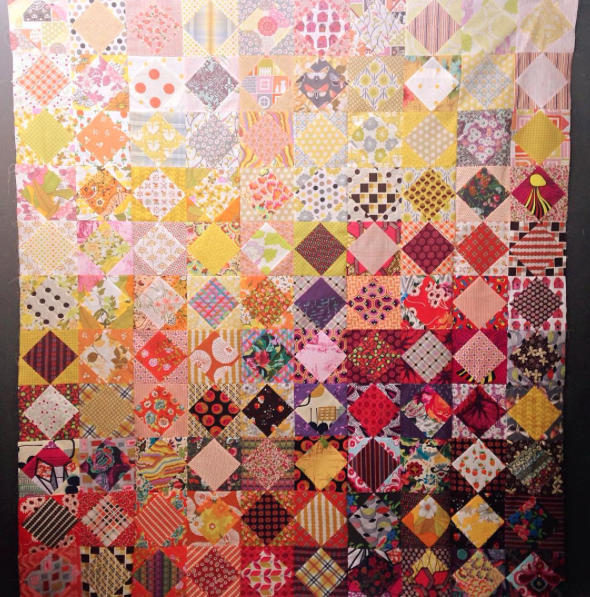 square on point quilt