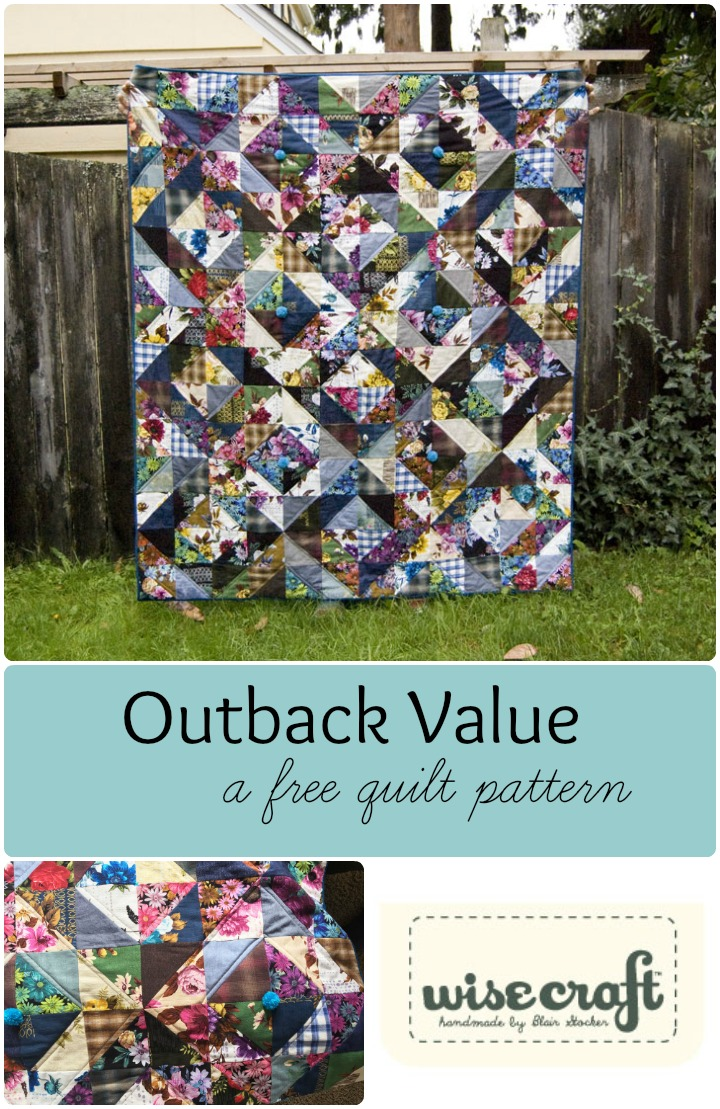 The Outback Value -A Free Quilt Pattern For You - Wise Craft Handmade