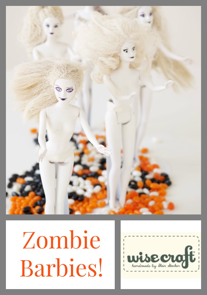 Halloween Craft Zombie Barbies
