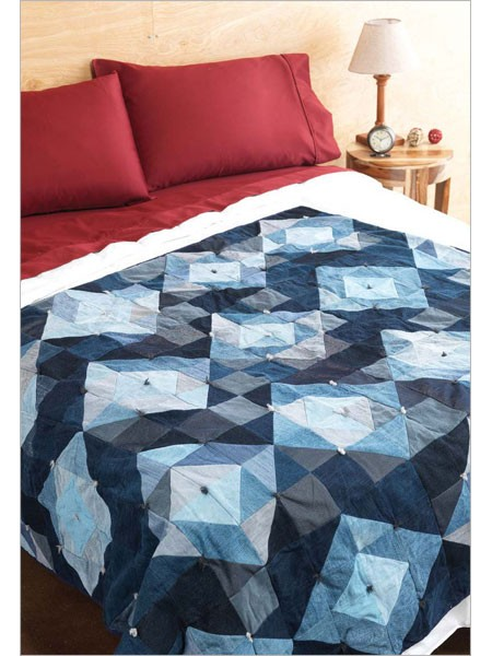 Facets Denim Quilt