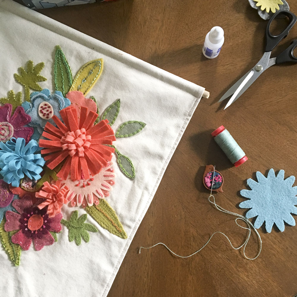 Details about the next #wisecraftstitchalong- Springtime Posey Wool Appliqué Banner