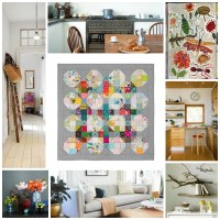 Tufted quilt collage