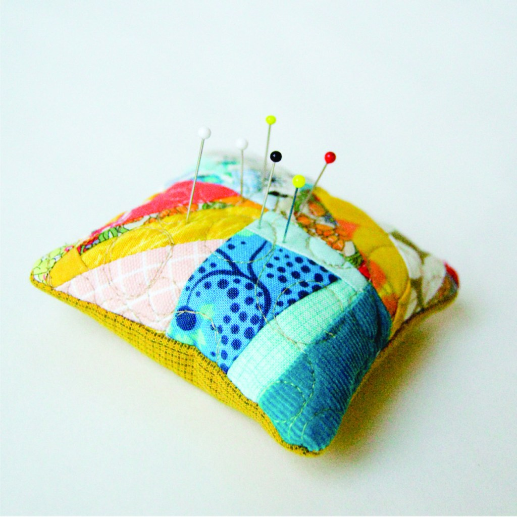 Scrappy Four Patch Pincushion Pattern