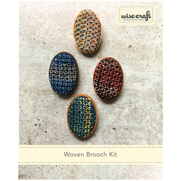 Woven Stitch Brooch DIY kit