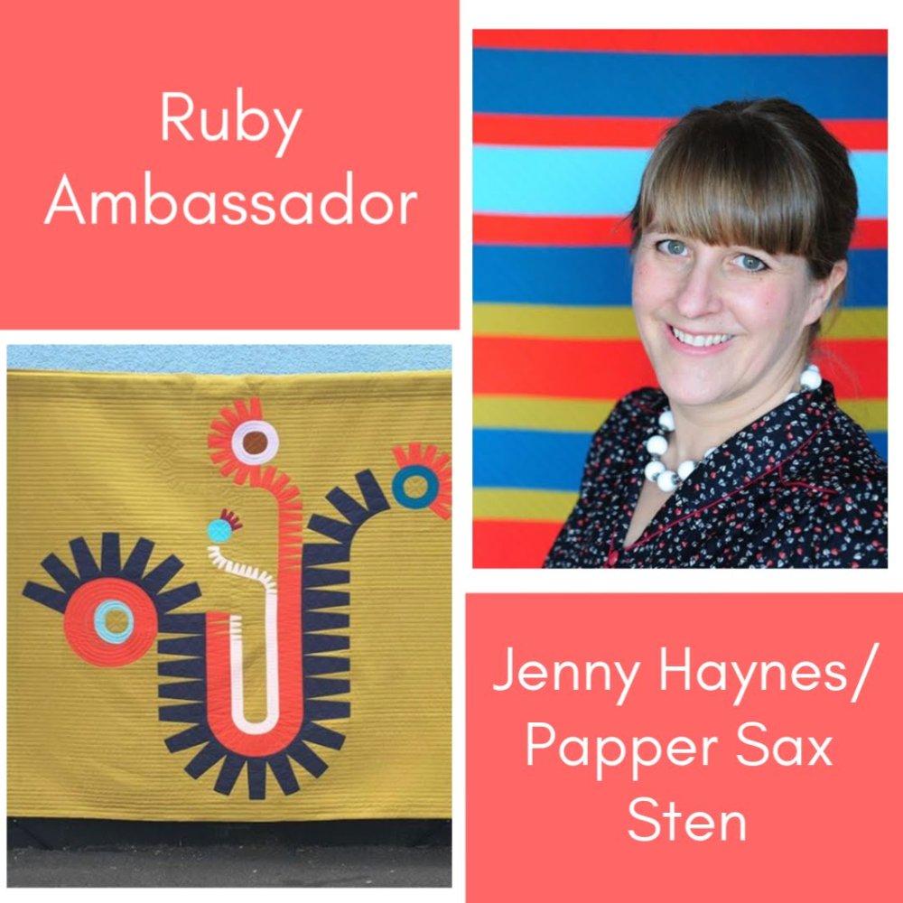 Ruby Ruler Ambassador Papper Sax Sten