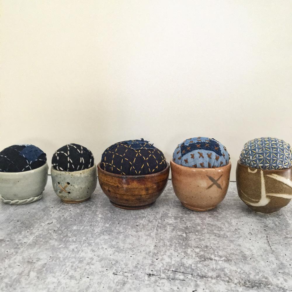 sashiko pincushions