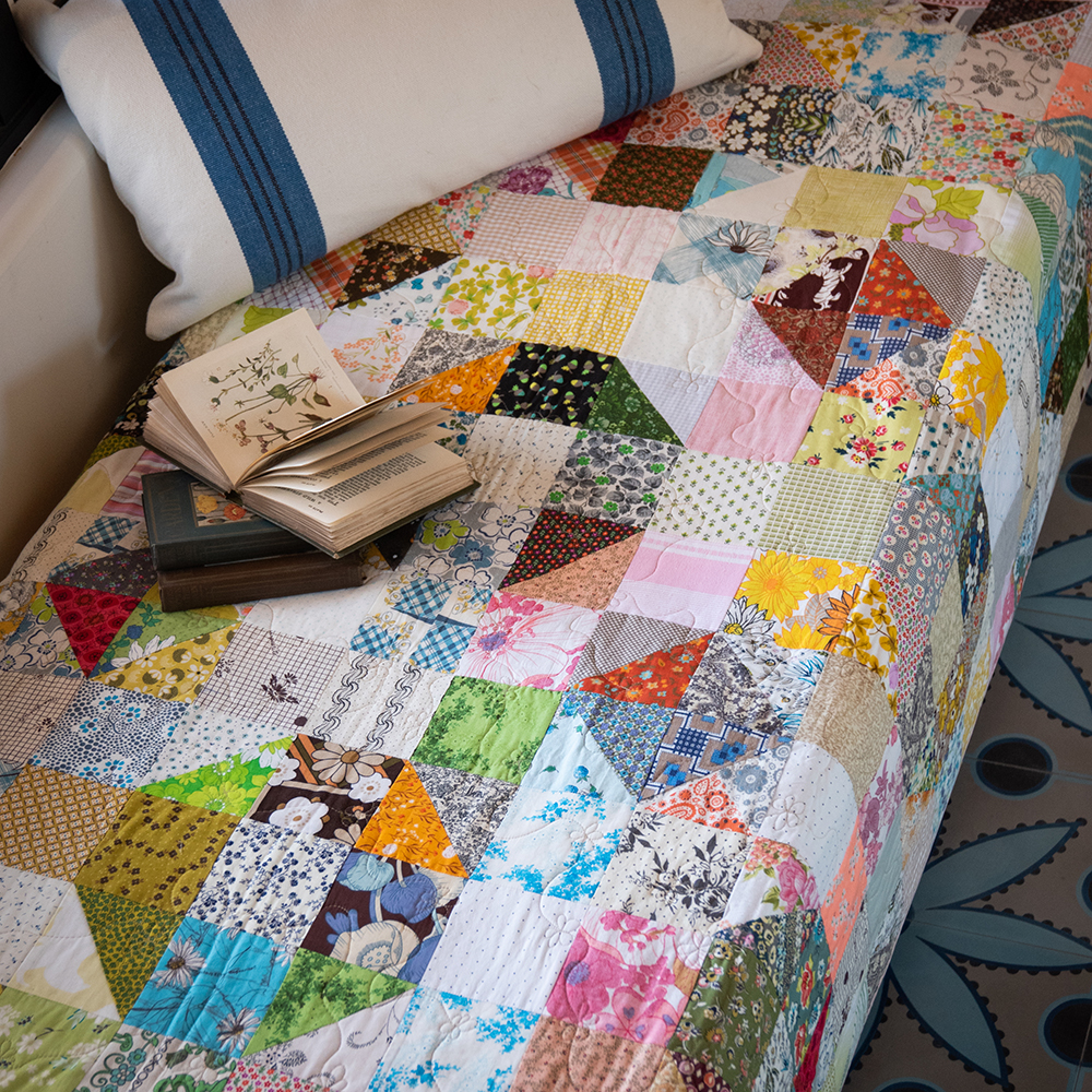 Nuts and Bolts Scrappy Modern Quilt Pattern Easy