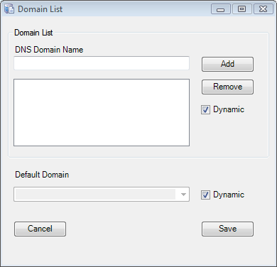 Password Control - Domain List Dialog