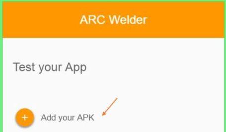 Add-Snapchat-APK-file-to-ARC-Welder