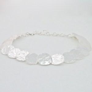 Discs bracelet - hammered