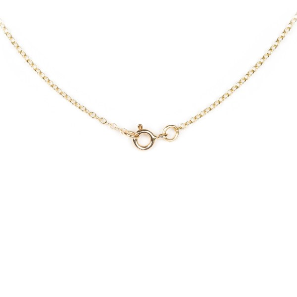 Earth pendant with khaki zircon set in yellow gold clasp